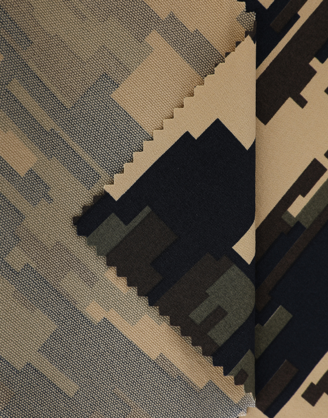 Warmer Stoff 546 Camouflage-Print Stretchstoff Outdoor-Kleidung